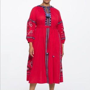 Eloquii Boho Tassel Midi Dress 14
